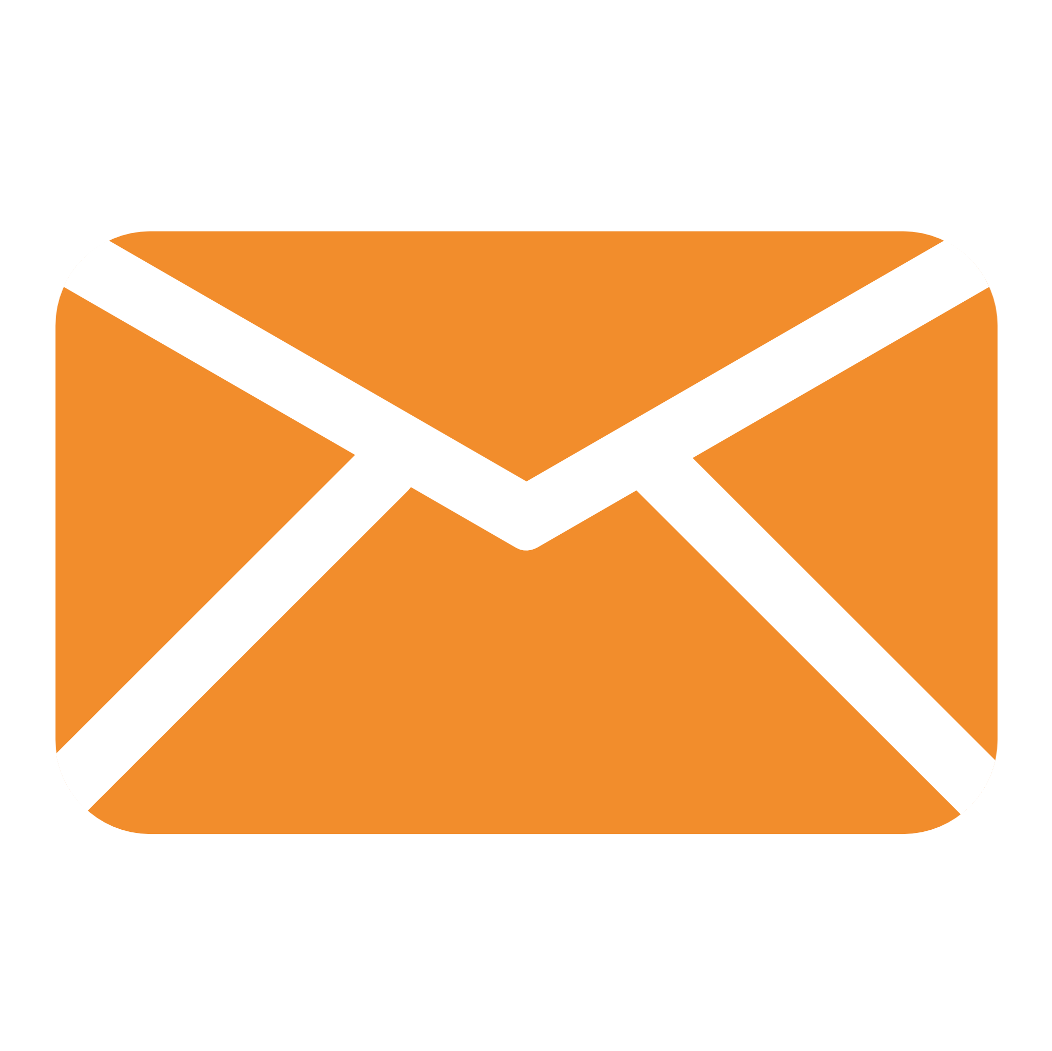 orange envelop icon