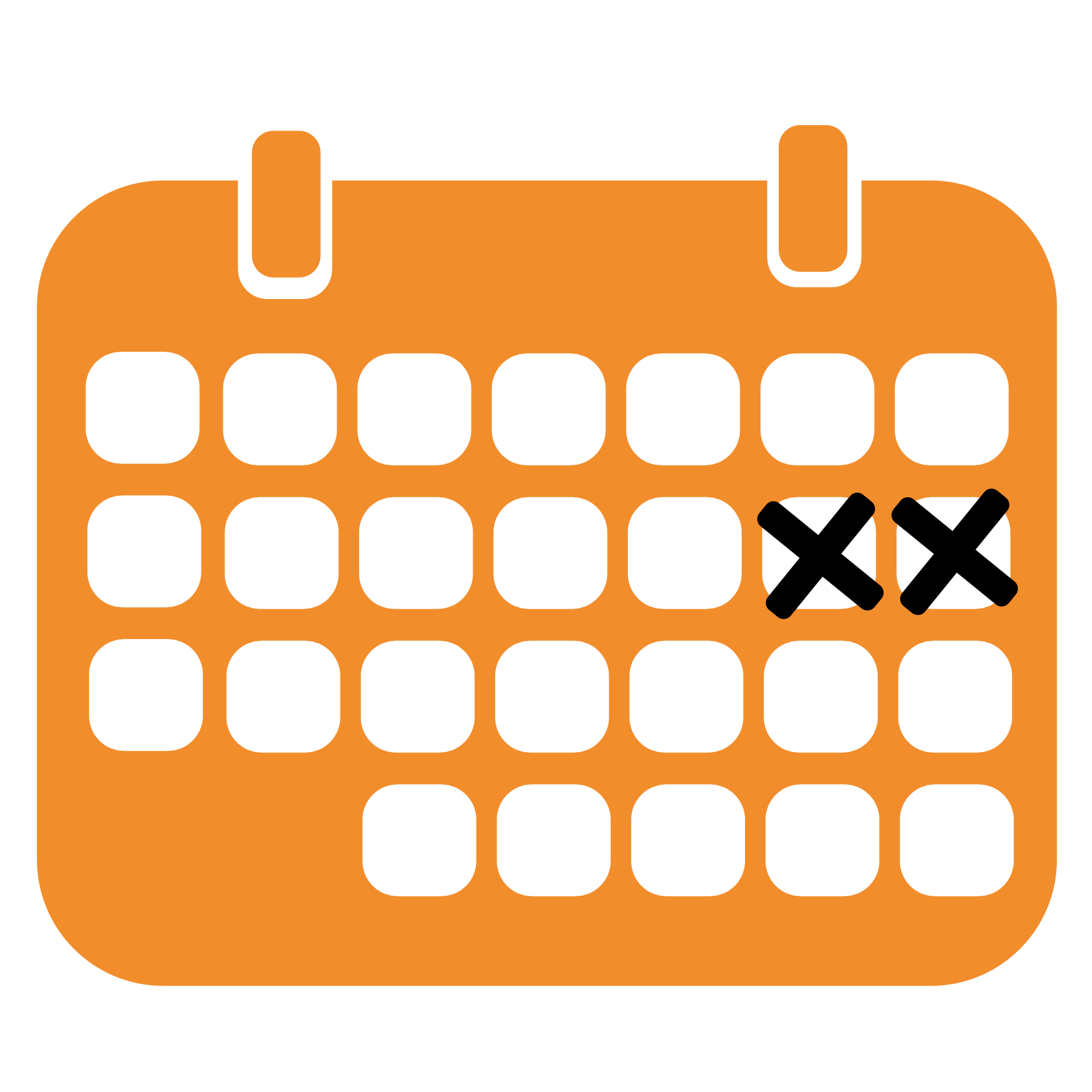 calendar icon where two boxes are checked